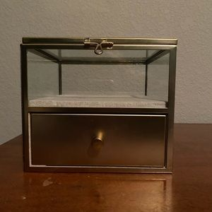 West Elm Gold Jewelry Box